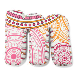 """Sophia Lolita Letter Pillow, """"M"""" - Our letter pillows are a fun way to make your child's bedroom more personal for them.  Made from our collection's bright colorful fabrics, it is sure to be a favorite of any child."""
