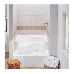 """MTI - MTI MTSB-4848JD Shower Base Soaker (47.5"""" x 47.5"""" x 26.5/15"""") - Experience the ultimate in comfort and convenience with this seated shower base. Hand-built using the highest quality acrylic materials, this single threshold shower base is also available with a stunning teak tray that adds a little bit of warmth to your shower experience. Like all MTI products, all acrylic shower bases are built to order in the USA and ship within 7 business days, the fastest turnaround in the industry. Acrylic shower bases feature a 10 year limited warranty. Please note, custom orders may not be returned. More information regarding the return policy of your custom-built MTI Whirlpools product is available here. This shower base is compatible with the following MTI enclosures: Nordic Series Shower Shield Nordic Series 48"""" Inline Panel/Door Available hydrotherapy option adds 5-point massage jets and a 1.25hp pump and will transform your shower base into a swirling foot bath. All MTI seated tubs are available with optional Radiance(R) Heating to warm the seat and floor area. Features Single, front threshold with integrated seat; 2"""" drain opening pre-drilled Integral tile flange and pre-leveled foam base Optional hydrotherapy jets enable it to double as a swirling footbath Durable cross-linked cast acrylic shell is extremely scratch and stain-resistant, yet renewable because the color goes all the way through the material Non-porous surface makes cleaning and sanitizing faster and more effective Multi-layered backing of thick fiberglass/resin/titanium encloses wood reinforcement to prevent flexing of floor pan At least 30% thicker and stronger than other makes Textured bottom that meets ASTM F-462-1994 certification requirements for safer showering NAHB Certified 10-year Limited Residential Warranty View Spec SheetNote: This item usually ship in 14 business days from the manufacturer. Please allow an additional 2-3 business days for order transmittal and verification."""