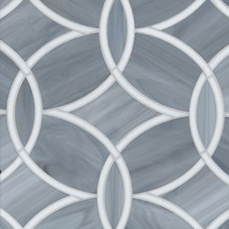 Beau Monde Glass, Polly, Absolute White and Pearl - Ann Sacks is basically the Louis Vuitton of tile (some of it is actually not that expensive). I love this wonderful pattern.