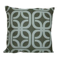 """Concepts Life - Concepts Life Decorative Pillow  Chosen Crossroads - One of the hottest trends in textiles, interlocking geometric designs make a statement with their bold, tribal patterns. Our Chosen Crossroads pillow is made from dyed fabric that is hand-stitched and will add a current and trendy feel to your room.  Hand-knit 100% cotten convas cover Comes with poly filler Spot clean Dimensions: 20""""h x 20""""w Weight: 1.5 lbs Pillow arrives in a vacuum sealed bag Once the pillow is aired and fluffed it will regain its full, soft and plump shape"""