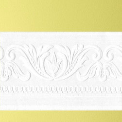 Graham & Brown - Classic Scrool Paintable Border Wallpaper - Classical scroll textured border. Paintable to match any decor.