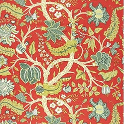 Jaipur Tree Fabric, Poppy