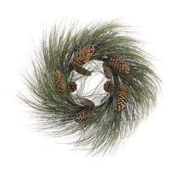 Silk Plants Direct - Silk Plants Direct Long Needle Pine Cone, Pine and Twig Wreath (Pack of 2) - Pack of 2. Silk Plants Direct specializes in manufacturing, design and supply of the most life-like, premium quality artificial plants, trees, flowers, arrangements, topiaries and containers for home, office and commercial use. Our Long Needle Pine Cone, Pine and Twig Wreath includes the following: