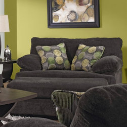 Jackson Furniture - Armstrong Oversized Chair in Graphite Fabric - 4502-01 - Armstrong Collection Chair
