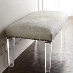 Massoud Brindle Hairhide Bench -
