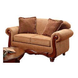Chelsea Home Furniture - Chelsea Home Linda Love Seat in Key West Umber - Linda loveseat in key west umber belongs to Verona I collection by Chelsea Home Furniture