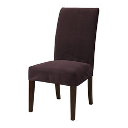"Powell - Powell Port Purple Velvet ""Slip Over"" Slipcover X-Z752-147 - Designed exclusively for our ""Slip Over"" Seating, this soft, inviting slipcover retains its smooth fit and removes easily for cleaning or changing. The Port Purple Velvet ""Slip Over"" is a great way to make your existing furniture new and different. Featuring Port Purple Velvet solid pattern fabric - 70% polyester, 30% rayon, this ""Slip Over"" is appealing and attractive and would make a great addition to your home.  For use with 741-440 chair."