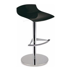 Papatya - Papatya   X-Treme-B Bar Chair - X-Treme B Bar Chair puts a form fitting wave atop a stable chrome column for the perfect pedestal seat that is ready to bring together any bar area with its clean modern presence. X-Treme B's versatility expands with the choice of 3 color options and also possesses added functionality with a sturdy foot rest.  Select from Solid White, Solid Black, and Transparent Orange.