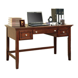 Steve Silver Furniture - Steve Silver Oslo Writing Desk in Cherry - Writing Desk in Cherry belongs to Oslo Collection by Steve Silver The  Oslo Writing Desk (Cherry) provides ample working space as well as storage space with it's two drawers and keyboard tray.  Available in black, white or cherry  Writing Desk (1)