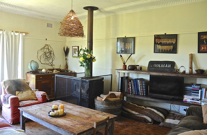 Rustic Living Room by Luci.D Interiors