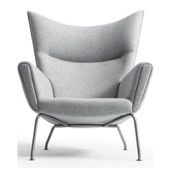 CH445 Wing Chair by Hans Wegner Available at Morlen Sinoway Atelier - CH445 lounge chair