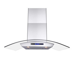 """AKDY - AKDY Wall Mount Range Hood Kitchen Cooking Vent Fan Stainless Steel AK-ZD01R, 30 - The strength and durability of stainless steel meets the elegance of professional European design in this 30"""" wall mounted range hood from AKDY. This includes an ultra quiet 760 CFM centrifugal blower, telescopic chimney that fits ceilings measuring between 8 and 8.5 feet, four-speed electronic touch sensitive controls with display, and a dishwasher friendly stainless steel baffle filter. With the delayed auto shut off, two 35w halogen lights and an optional ductless feature, and you'll discover ease of use you'll quickly fall in love with. High style, professional functionality, and a cost you can afford. AKDY once again delivers on its promise of excellence."""