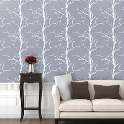 """Trees Wallpaper 8.5'feet - """"Swag Paper - Empowering the Do-It-Yourselfer:"""