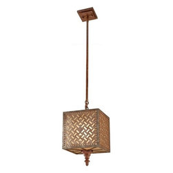 Murray Feiss - 1 Bulb Moroccan Bronze Chandelier - - UL Dry Approved.