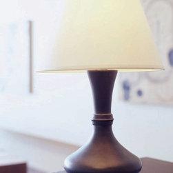 Marrakesh Table Lamp - Turned alder base.