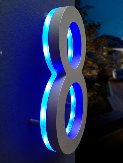 Contemporary House Numbers by Surrounding - Modern Lighting & Furniture