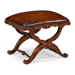 Jonathan Charles - New Jonathan Charles Bench Walnut Windsor - Product Details