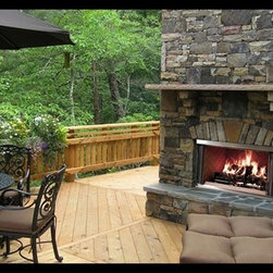 Outdoor Lifestyles Montana Wood Fireplace - The Montana is the original outdoor fireplace that started it all. It's fashionably built to withstand adverse weather conditions and deliver solid performance - season after season, year after year.
