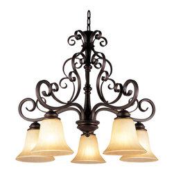 Trans Globe - Trans Globe 5-Light Chandelier - Down-Lights - Trans Globe 5-Light Chandelier - Down-Lights