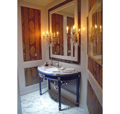 Traditional Powder Room by Jessica Hall Associates