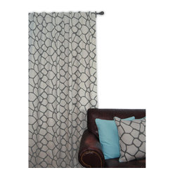 ez living home - EZ Living Home Giraffe Window Panel 84L LT Grey on DK Grey - *Eye-catching yet subtle giraffe pattern; EZ to decorate with; Complements existing room decoration.