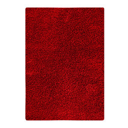 """MAT Orange Cosmo Red Rug - 5'2""""x7'6"""" - The rugs in this collection are all inspired by urban lanandscapes, making way for a statement where texture, shape, and line are the form. The rug's texture and the marriage of colors speak to the contemporary room. """"It is the art piece on the floor.  Because of the artistic quality ofThe rugs they are easily used in modern as well as traditional interiors. Pile Height:2 Inches"""