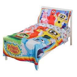 Betesh Group - Yo Gabba Gabba Toddler Bedding Set Rainbow Friends - Features: