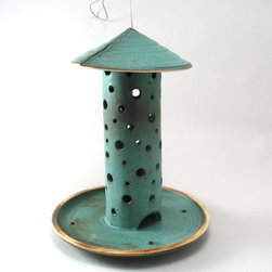 Ceramic Bird Feeder by Cheryl Wolff Garden - Bring all the birds to the yard with this ceramic bird feeder. They'll love the patina as much as you do!