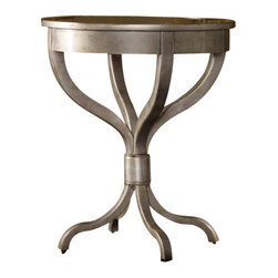 Hooker Furniture - Hooker Furniture Melange Brooklyn Accent Table with Mirrored Top - Hooker Furniture - Accent Tables - 63850027 - Come closer to Melange, and you will discover something unexpected, an eclectic blending of colors, textures and materials in a vibrant collection of one-of-a-kind artistic pieces.