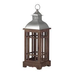 Sterling Industries - Sterling Industries 138-037 Poynton Foyer Pendants in Natural Wood Tone With Sta - Poynton-Outdoor Lantern (Medium)