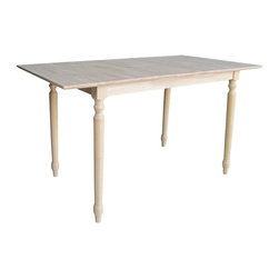 International Concepts - International Concepts Unfinished Turned Leg Counter Height Dining Table - International Concepts - Dining Tables - KT32X336T