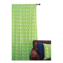 ez living home - EZ Living Home Honeycomb Window Panel 84L Lime - *Aesthetically pleasing geometric pattern; EZ to decorate with; Suitable for any style.