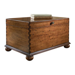 "Hooker Furniture - Hooker Furniture Lift Lid Cocktail Trunk - This attractive cocktail trunk provides a practical solution to storage. It features bun feet and a rich, high touch finish on special cherry veneers that provide an exceptional look and feel of a treasured antique. Lift lid with stay-open hinge opens to a fully finished interior with ventilation openings. Hardwood Solids with Cherry Veneers. Dimensions: 36""W x 24""D x 20""H."