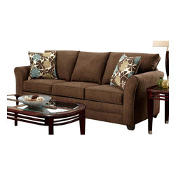 Chelsea Home Furniture - Chelsea Home Essex Sofa in Council Fudge - Essex sofa in council fudge belongs to Verona I collection by Chelsea Home Furniture