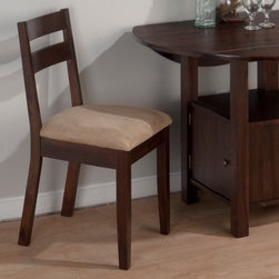 Jofran Bedford Dining Chairs - Set of 2 - With clean lines and plush upholstery, the Jofran Bedford Dining Chairs - Set of 2 is both cool and cozy. Crafted with durable solid hardwood and strengthening veneers in a warm bedford brown finish, these two armless chairs boast high backs and angled back legs, too.About Jofran FurnitureJofran is a seller of fine home furnishings based in Norfolk, Mass. Launched in 1986, Jofran is known for the high-quality materials and meticulous methods that go into producing its products. Jofran furniture is easy to assemble and includes various styles from all around the world, making it easy to find a piece that suits your home decor.