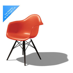 Eames Armchair with Dowel Leg Base | Smart Furniture - The Eames Armchair has a retor look. Add it to your space for a punch of color and personality.