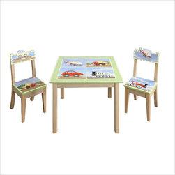 Teamson Design - Teamson Design Transportation 3-Piece Table and Chairs Set - Teamson Design - Kids' Table and Chair Sets. W9946PKG. Teamson Design Transportation 3 Piece Table and Chairs Set