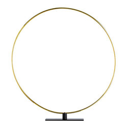 """Arteriors - Arteriors Home - Gregory Large Ring Sculpture - 4143 - These simple polished brass rings are a great graphic sculpture by themselves, and even more impactful when shown in multiples to create interlocking circular patterns. Features: Gregory Collection Large Ring Sculpture Polished Brass/Black IronMultiples to create interlocking circular patterns Some Assembly Required. Dimensions: H: 38.5"""" x W: 36"""" x D: 3"""""""