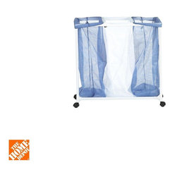 Honey-Can-Do - Honey-Can-Do Hampers 3-Bag Mesh Laundry Sorter Hamper blue/white HMP-01629 - Shop for Storage & Organization at The Home Depot. The Honey-Can-Do 3-Bag Mesh Laundry Sorter Hamper has 3 large see-through nylon mesh bags that make sorting laundry a breeze. Easy to remove and machine washable the bags allow clothing to breathe to keep mildew at bay and feature a drawstring closure that keeps clothing contained and carrying a cinch. Featuring a lightweight PVC frame that is durable for years of use the smooth rolling casters allow for easy mobility whether you're going to the laundromat or just down the hall. Color: Blue/white.