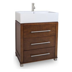 Hardware Resources - VAN097-T Jeffrey Alexander Vanity with Preassembled Bowl and Top in Chocolate - Jeffrey Alexander Vanity with Preassembled Bowl and Top by Hardware Resources