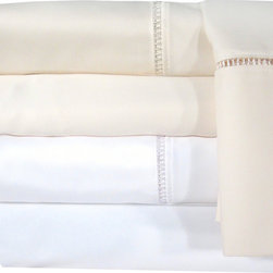 Veratex - Grand Luxe Linford Egyptian Cotton Sateen Deep Pocket 1200 Thread Count Sheet Se - This sheet set features a luxurious 1200 thread count 100-percent Egyptian cotton construction. With an extra long and extra wide flat sheet to accommodate thick mattresses,a beautiful hem stitch design adorns the sheet and pillowcase.