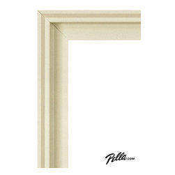 EnduraClad® Exterior Finish in Poplar White - Available on Pella Architect Series® and Designer Series® wood windows and patio doors, EnduraClad exterior finishes offer 27 standard and virtually unlimited custom color options.