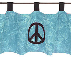 Blue Peace Window Valance