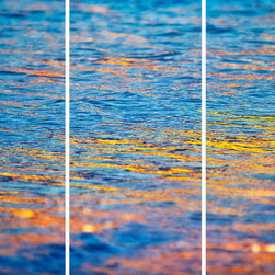 """""""Ocean Flames"""" Tryptic Fine Art Print - © Cardelucci"""