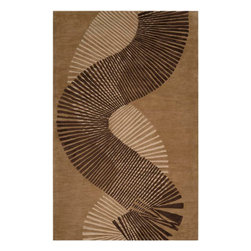 """Surya - Surya Artist Studio ART-233 (Tawny Brown, Taupe) 3'3"""" x 5'3"""" Rug - True to its name, Artist Studio is an assortment of the best from the leading designers around the world. A palette of deep, rich colors paired wilh hand-tufted details of high/low pile make this collection exceptionally textured and multi-dimensional. All rugs in this collection are hand-tufted of 100% New Zealand."""
