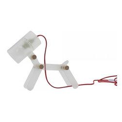 White Happy Dog Acrylic Desk Lamp - White Happy Dog Acrylic Desk Lamp