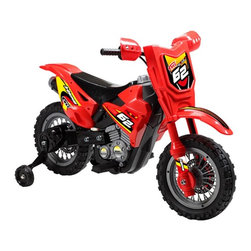 Digital Complex Inc - Mini Motos Dirt Bike Motorcycle Battery Powered Riding Toy - Red Multicolor - MM - Shop for Tricycles and Riding Toys from Hayneedle.com! Allow them to get their first feel for the road with the Mini Motos Dirt Bike Battery Powered Riding Toy. This plastic beauty runs on a six-volt rechargeable battery and reaches top speeds of three miles per hour. It's easy to operate with a push-button throttle (just release the button to brake). Training wheels ensure they get a comfortable start before the challenge of two wheels.Additional FeaturesABS plastic body and plastic tiresBattery charges in 4 to 6 hoursAbout Big Toys USABig Toys USA is an exclusive US distributor for high quality ride-on toys from Spain Germany China and Italy along with a complete line of American-made rideable toys. Big Toys represents Fisher Price Power Wheels Big Injusa Kid Trax Mini Motos Feber NPL Evo Powerboards and Toys Toys. Big Toys focuses on quality safety value and most of all Big Fun.