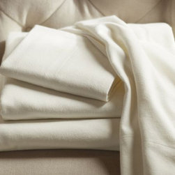 PB Organic Flannel Sheet Set, Ivory - A little flannel will keep you warm during the snow and rain of winter.