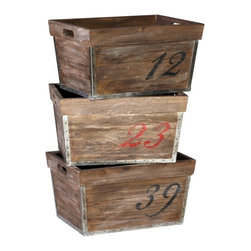Gabby Decor Barlow Numbered Crates - These amazing storage crates are so rustic.