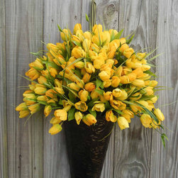 Spring Wreath Alternative, Yellow Tulip by Forevermore - Is it just me, or do these look crazy realistic?